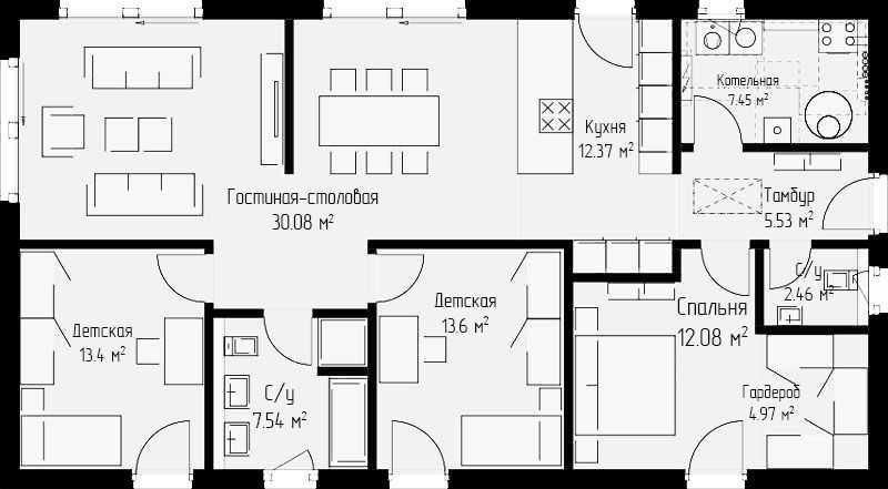Проект дома 109 кв.м.