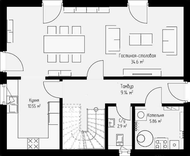 Проект дома 134кв.м.