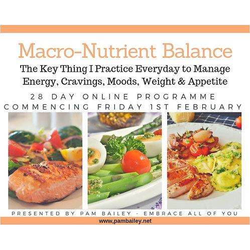 Macro-Nutrient Balance - Online Programme