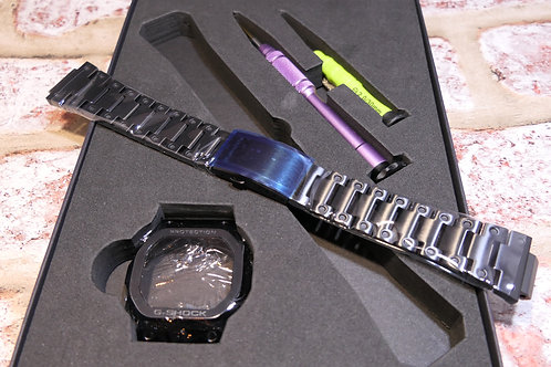 NEW DLC Black Bezel + Bracelet Kit for CASIO G-SHOCKS GW-B5600 series