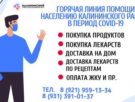 Информация о деятельности Волонтерского штаба Калининского района СПб