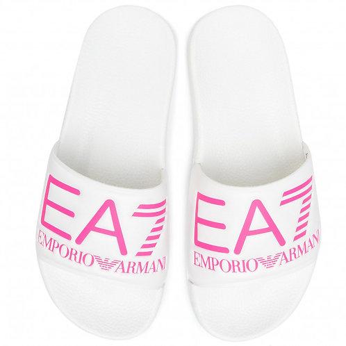 Claquettes avec grand logo EA7