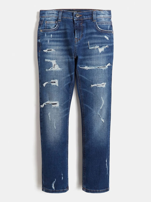 Jeans coupe slim déchiré