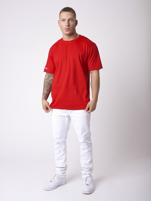 Tee-shirt simple broderie manche