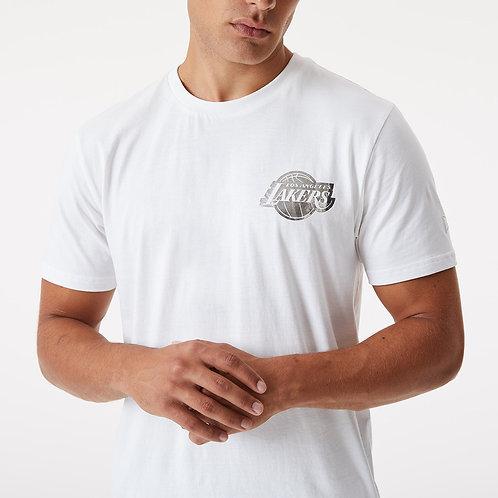 T-shirt blanc métallique Lakers