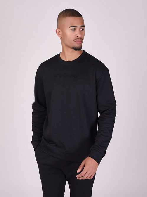 Sweat col rond logo relief basic