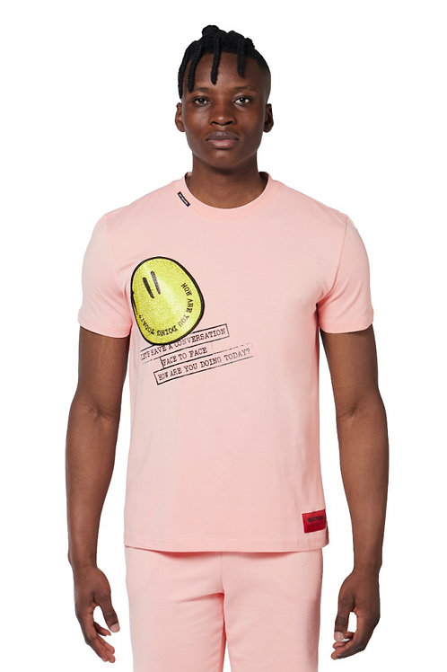 T-shirt rose smiley