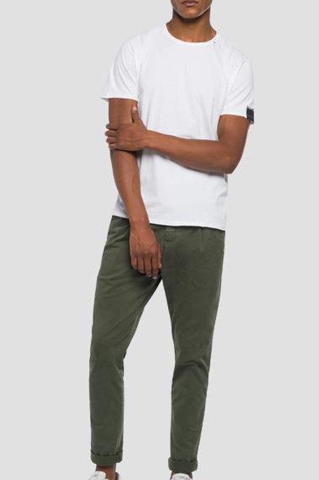 T-shirt en coton coupe à cru