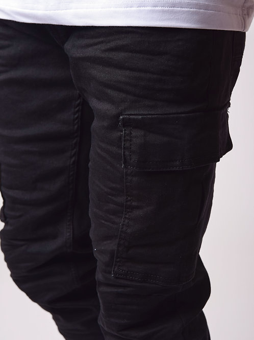 Jean cargo noir