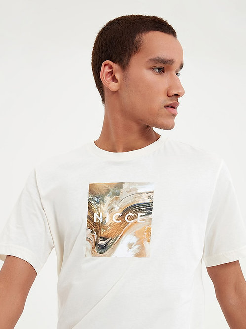 T-shirt aerial box écru