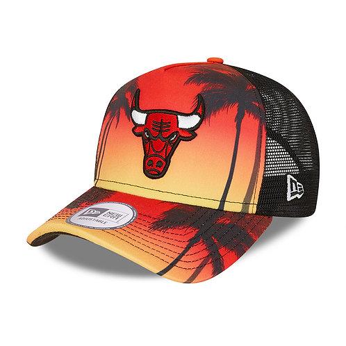 Casquette Trucker Chicago Bulls Summer City noir