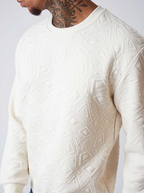 Sweat ivoire à détail