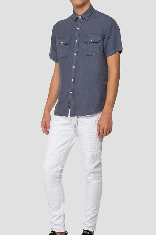 Chemise manches courtes en Lin REPLAY