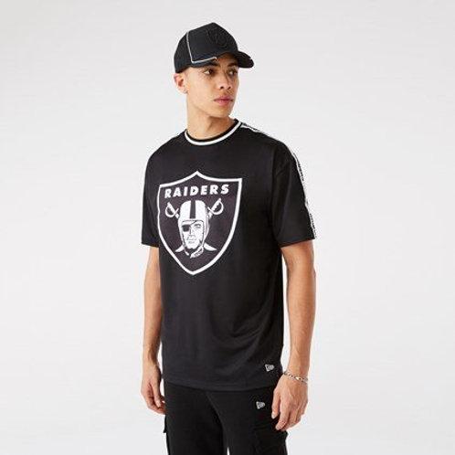 T-shirt Oversize à bande Las Vegas Raiders
