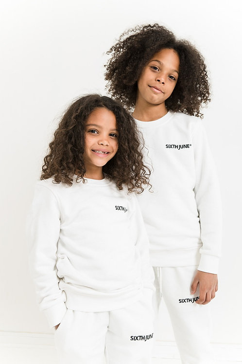 Ensemble logo brodé Blanc