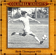 Engraved photo tile award for graduating soccer player.