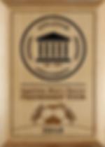 Custom-designed plaque for socce tournament.