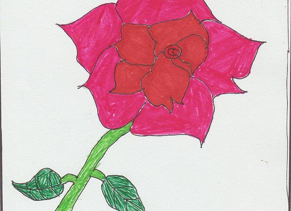 Rose mix media