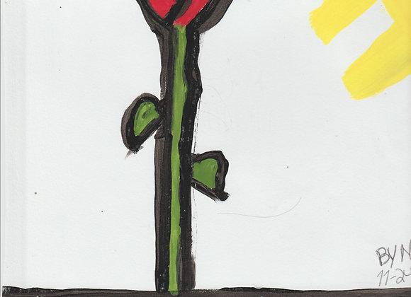 Rose arylic painting