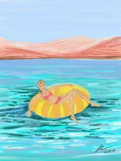 """A floating doughnut""   Sardinia series, 2021"