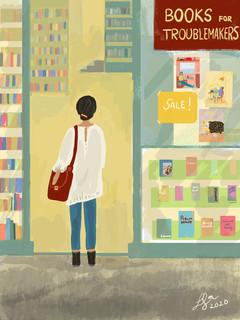 """how many books are too many?""    #doodleoftheday   2020"