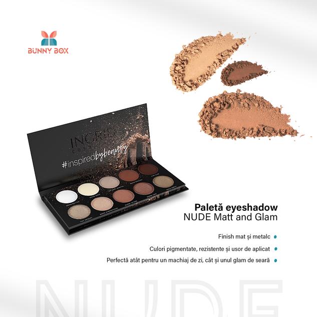 Paletă de Eyeshadow in 10 culori nude