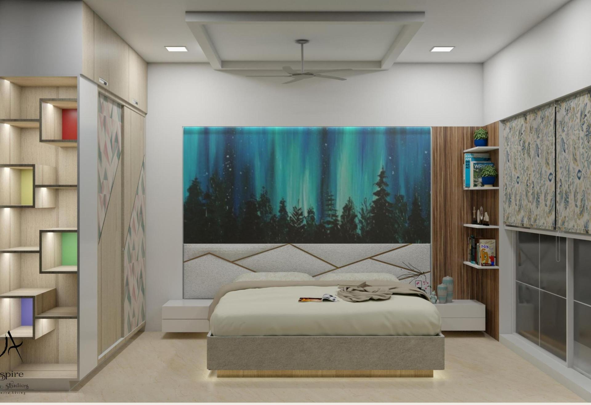 Transitional style interior 3bhk