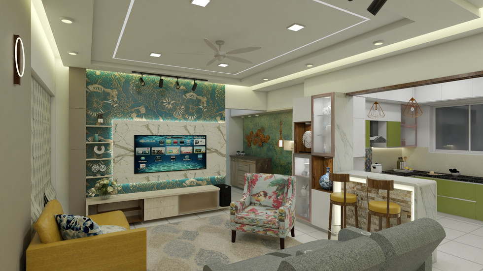 Fusion Eclictic style Interior