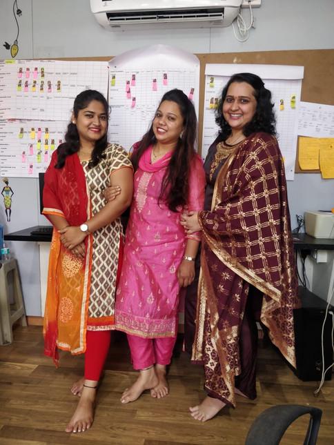 Celebrating Padwa at office