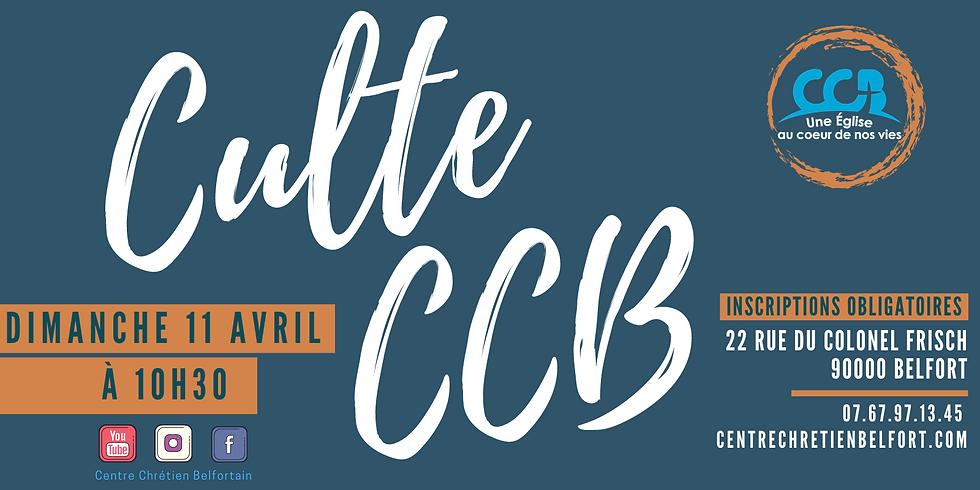 Culte du CCB du 11 avril 2021
