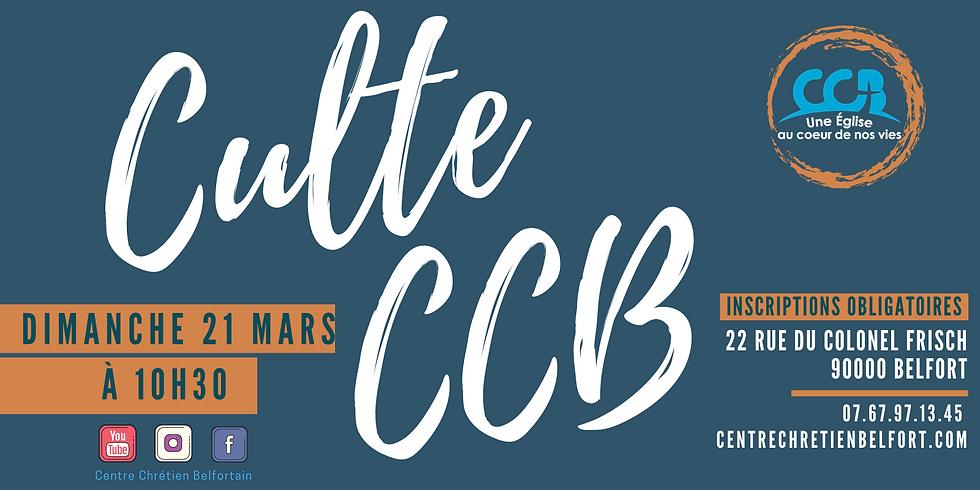 Culte du CCB du 21 mars 2021