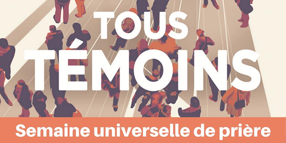 """RDV Zoom => """"Semaine Universelle de prière"""" 15/01/21"""