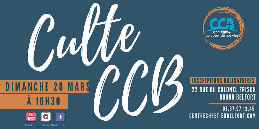 Culte du CCB du 28 mars 2021