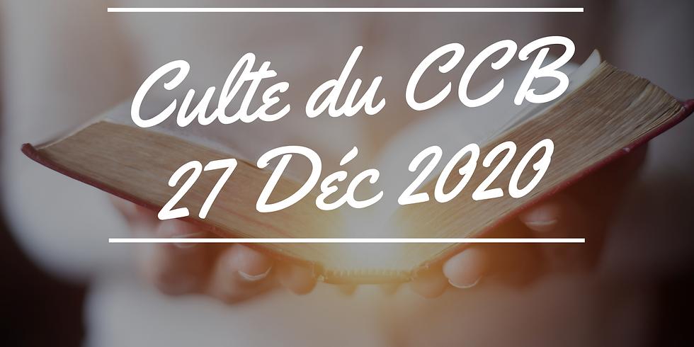 Culte du CCB du 27 décembre 2020