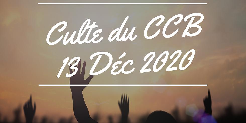 Culte du CCB du 13 décembre 2020
