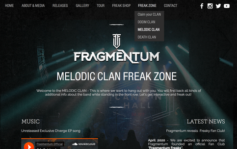 Fragmentum reveals Freaky Fan Club!
