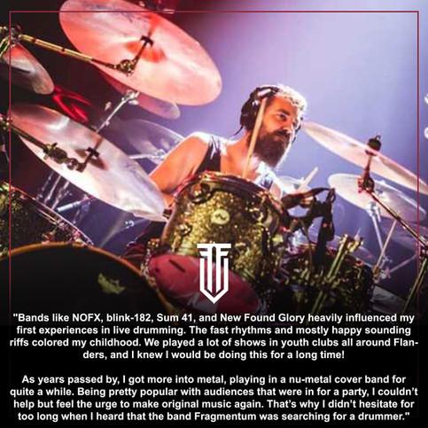 Modern Drummer Magazine with Frederik