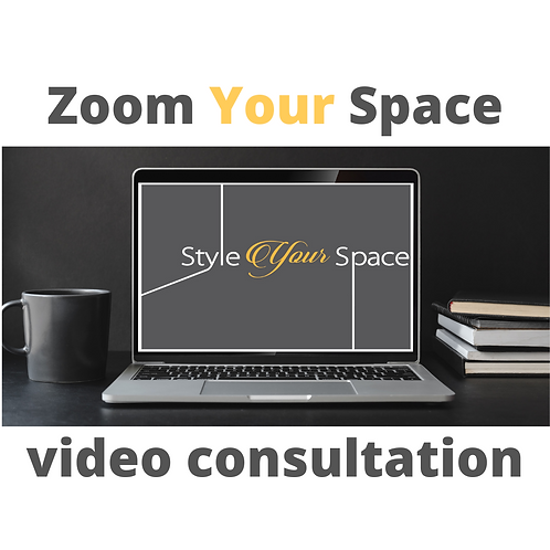 Zoom Your Space : 45 minute video consultation