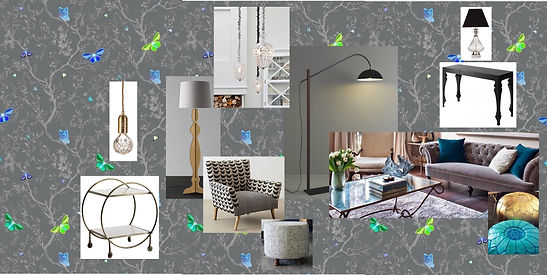 Online Interior Design by Style Your Space : affordable interior design. This is a moodboard | living room | grey rooms