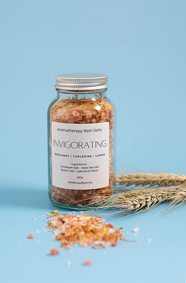 INVIGORATING Bath Salts  | Aromatherapy Blend | All-Natural Mineral Soak