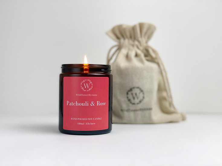 Patchouli & Rose - Scented Soy Candle
