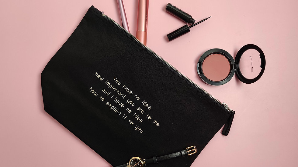 You are important - Canvas Pouch