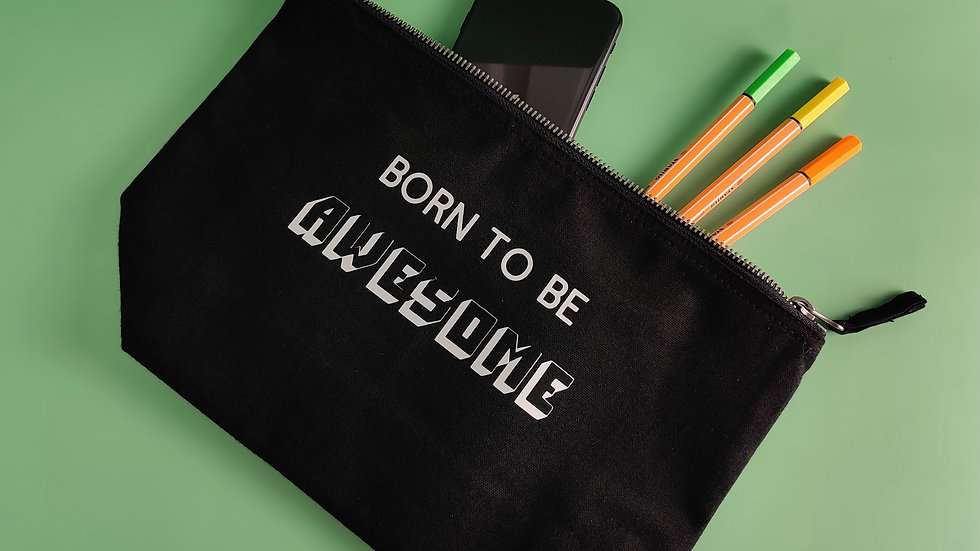 Born To Be Awesome - Canvas Pouch