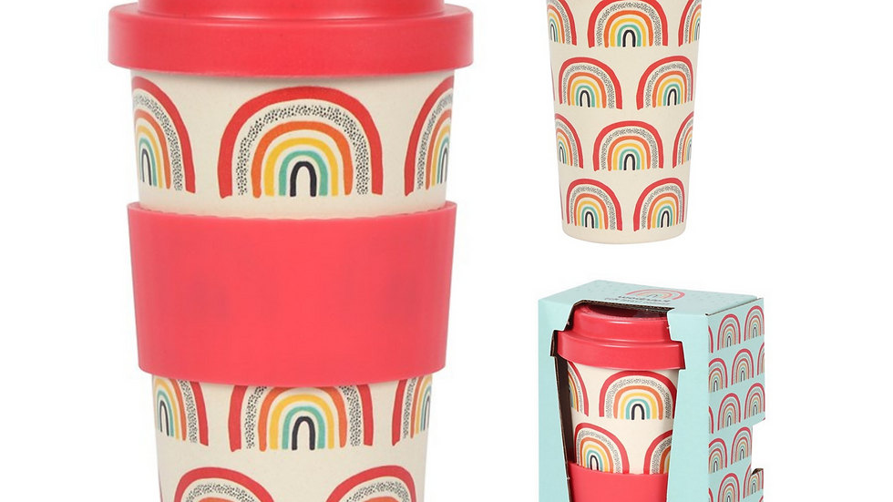 Rainbow Bamboo Eco Travel Cup