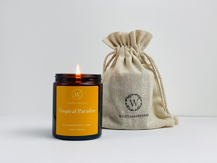 Tropical Paradise - Scented Soy Candle