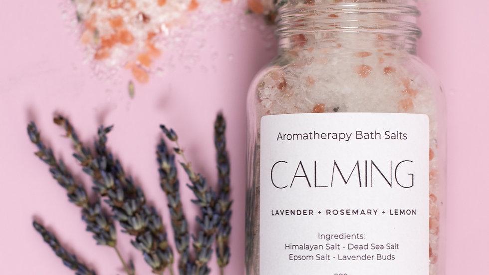 CALMING Bath Salts  | Aromatherapy Blend | All-Natural Mineral Soak