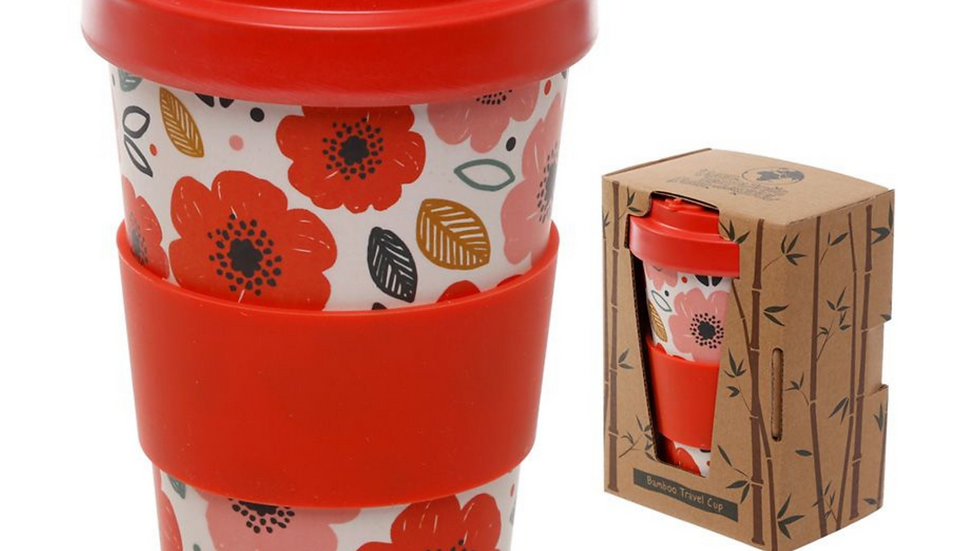 Poppy Field Bamboo Eco Travel Cup