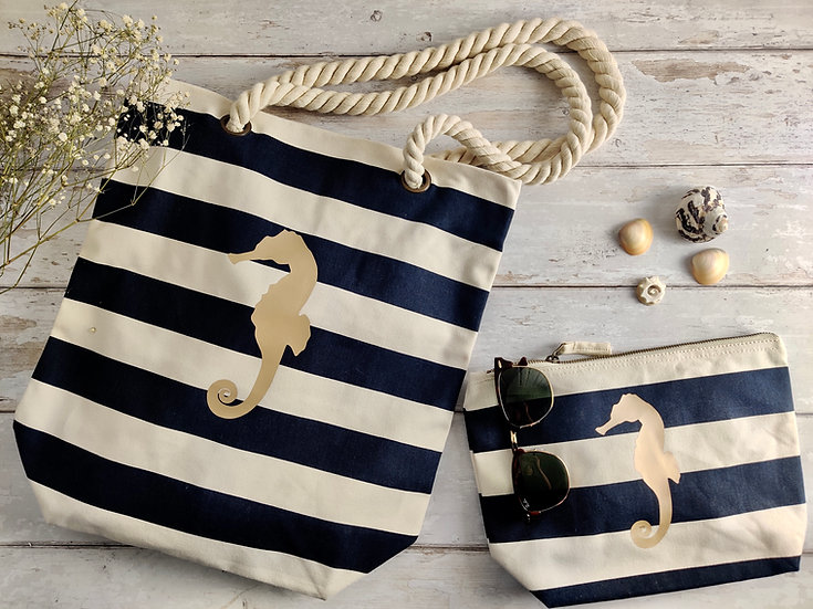Nautical Tote Bag & Pouch
