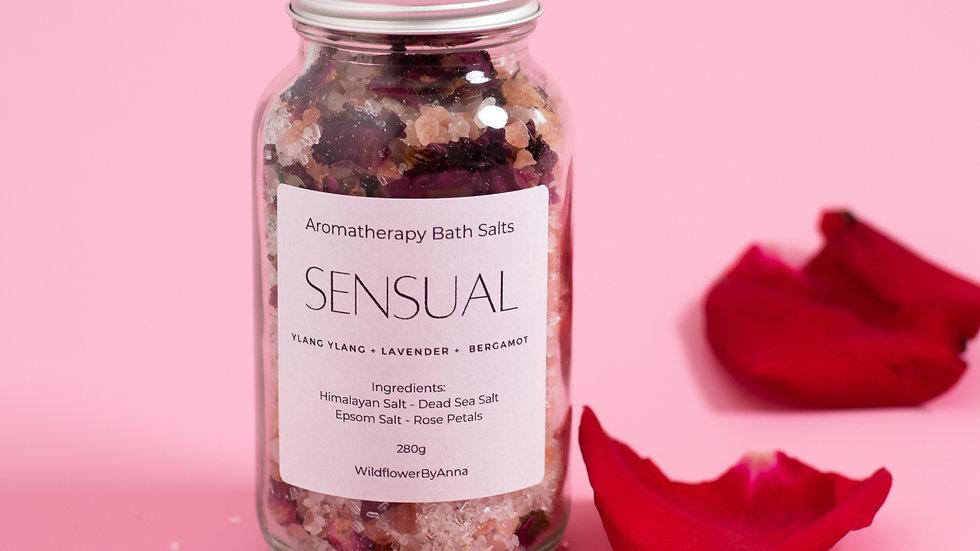 SENSUAL Bath Salts  | Aromatherapy Blend | All-Natural Mineral Soak