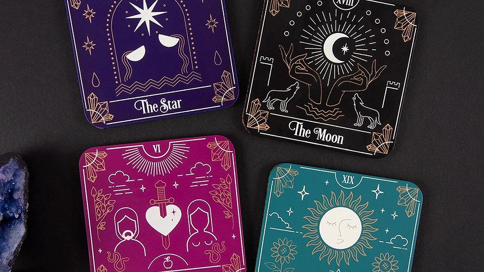 Tarot Card Coaster Set of 4